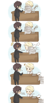 Chibi Drarry - Office Romance by Cremebunny