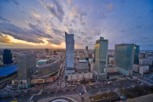 Warsaw skyscrapers February 2016 - 3 by mysterious-one