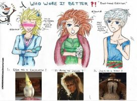 Frozen: WHO WORE IT BETTER?! Bed-head Edition by MANGAMANIAC666
