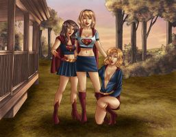 Family Portrait - Supergirls by kclcmdr