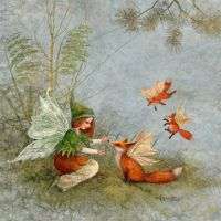 Fairy and foxes by ArtGalla