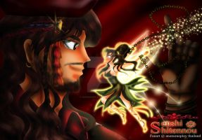 Makoto X Nephrite as Tinker Bell X Captain Hook by anemoneploy