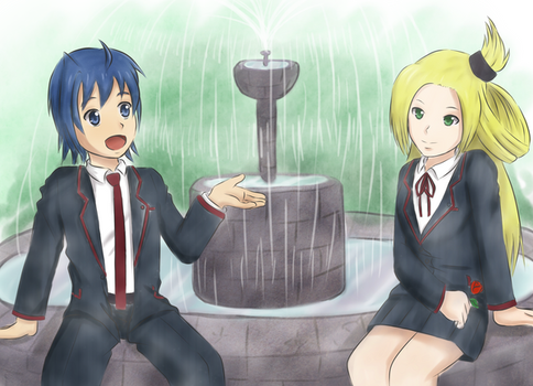 Commission: Aichi and Kourin by Lewnett