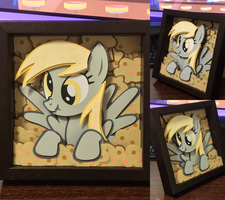 shadow box Derpy and muffin by robicraft
