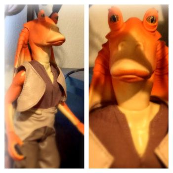 My Original Jar Jar Binks Action Figure by Cruella1989