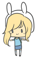 Fionna Mini Chibi [free to use] by pinkbunnii