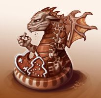 gingerbread dragon. by Notesz