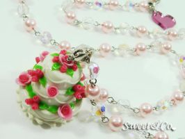 3layer Cake Long Necklace by SweetandCo