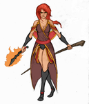Fire Sorceress by Xatoga