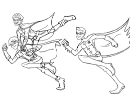 YJ Robins Line art by Maygirl96