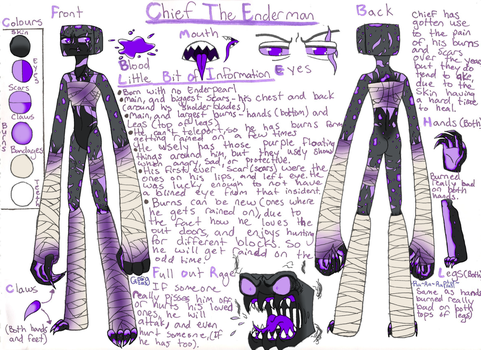 Minecraft: Chief Reference Sheet by Gangster-dog