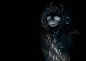 Gloomy girl. by Meammy