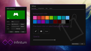 Infinitum new logo and GUI by link6155