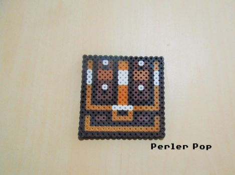 TLoZ A Link to the Past Treasure Chest Perler by Perler-Pop