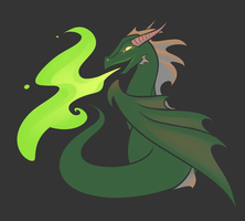 Patreon Commission - Green Dragon Mascot by Hollulu