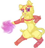 Lovely Little Aura Sphere by wumbreon