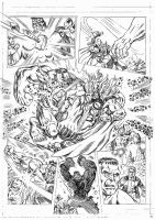 THOR VS HULK PENCILS PAGE 5 by Johnny-Retro65