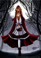 Red Ridding Hood - beware of the wolf by zaameen