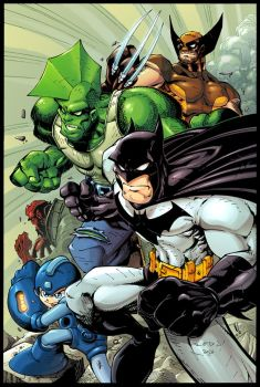 Bats, Dragon, Mega, Wolvie, HB by Red-J