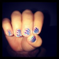 Purple and Blue Stripes by FatimattiDesigns