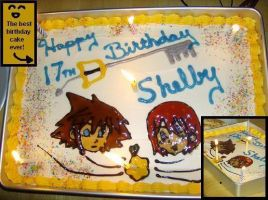 Kingdom Hearts Birthday Cake by dragonwind15