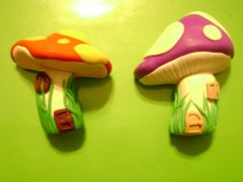 Mushroom House Magnets by Lord-Ackbar
