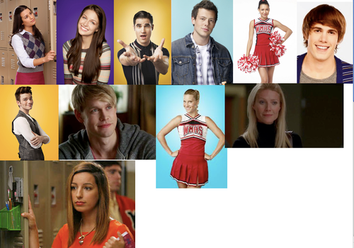 Top 11 Glee Characters by 516tigergirl