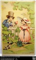 Lovely Post Card - ap. 1930s by blue-crystall