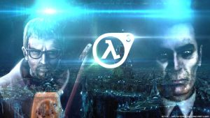Gordon Freeman And Gman HL3 XEN Wallpaper by Opty-Face
