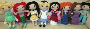 Disney Princess Handmade Amigurumi Set 1 by amigurumi4u