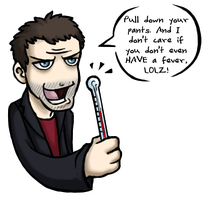 House + thermometer is scary by taconaco