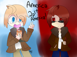 America and 2p!America by Matsuri212