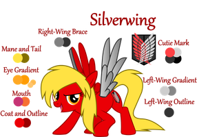 Silverwing - OC Reference Sheet by Lt-Fleur