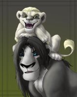 snape and draco lions by hibbary