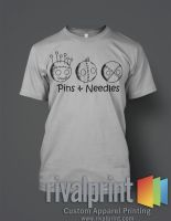 Pins and Needles, Black on Ash Grey by 4StarsChicago