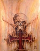 Templar cross, skull and crossed bones 01 by Stelf-2014