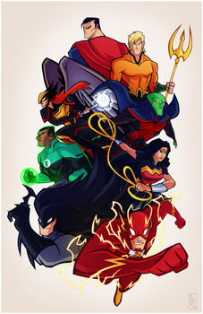 Justice League by Tigerhawk01