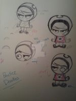 Practice Mandy Sketches by invaderzagr223