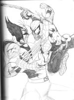 Wolverine VS Spiderman by Ari-Spike-Nadelman