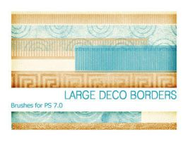 Large Deco Borders PS 7.0 by Pfefferminzchen