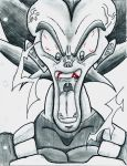 Overly Cartoony Vegeta by HyperMetroid