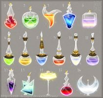 Potions (set 6) by Rittik-Designs