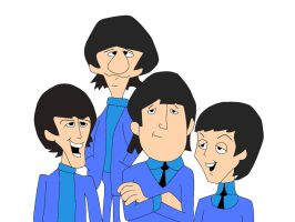 The Beatles - cartoon version by A13jandr0169
