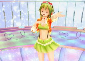 [MMD] Gumi Singing by sailor-rice
