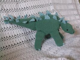 Big Crochet Stegosaurus Amigurumi by ShadowOrder7