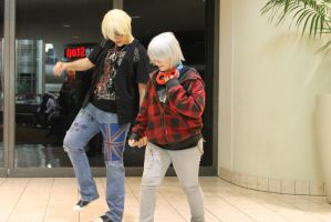 Mall Cosplay- England and Prussia by AkuAsobi
