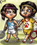 Hannibal chibis - Playing tennis by FuriarossaAndMimma