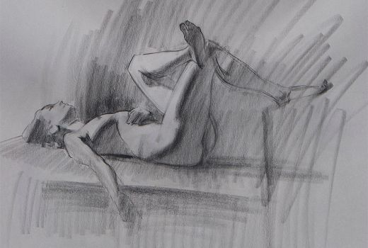 Figure Drawing -Reclining by Wildweasel339