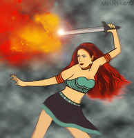 The fire girl by AnanyaArts