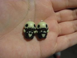 Earrings: Jack Skellington by pinabear